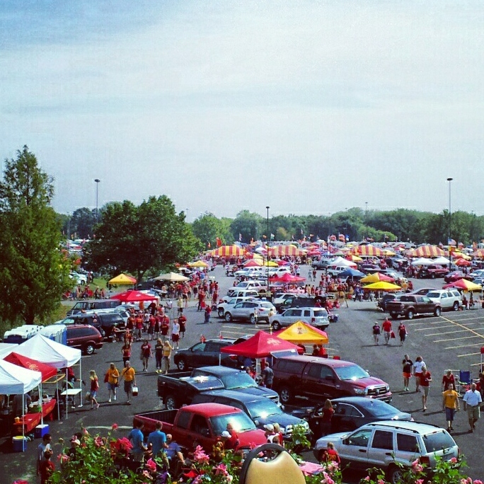 Iowa State Cyclone Tailgate at Jack Trice Stadium in Ames, Iowa