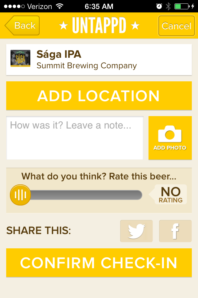 Untappd iPhone