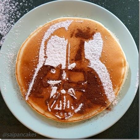 Darth Vader Breakfast Stencil