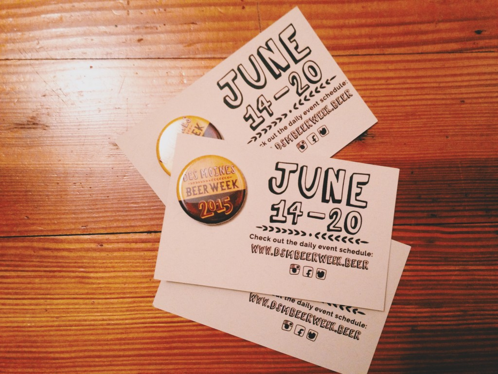 des moines beer week buttons