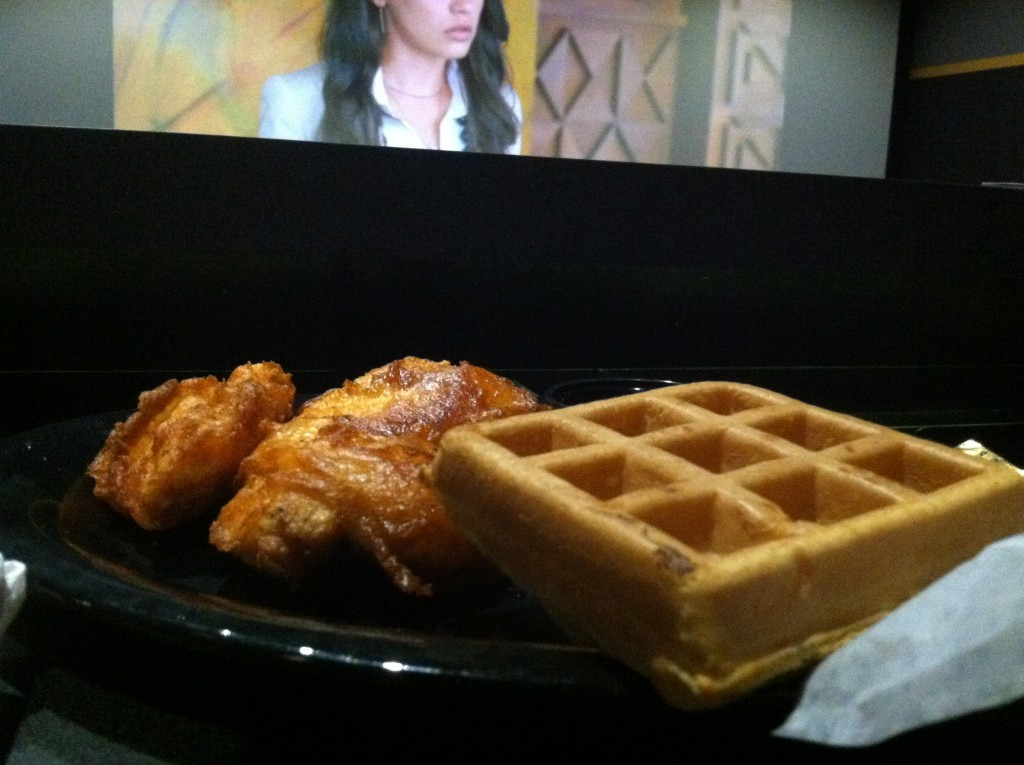 Chicken and Waffles at Flix Brewhouse