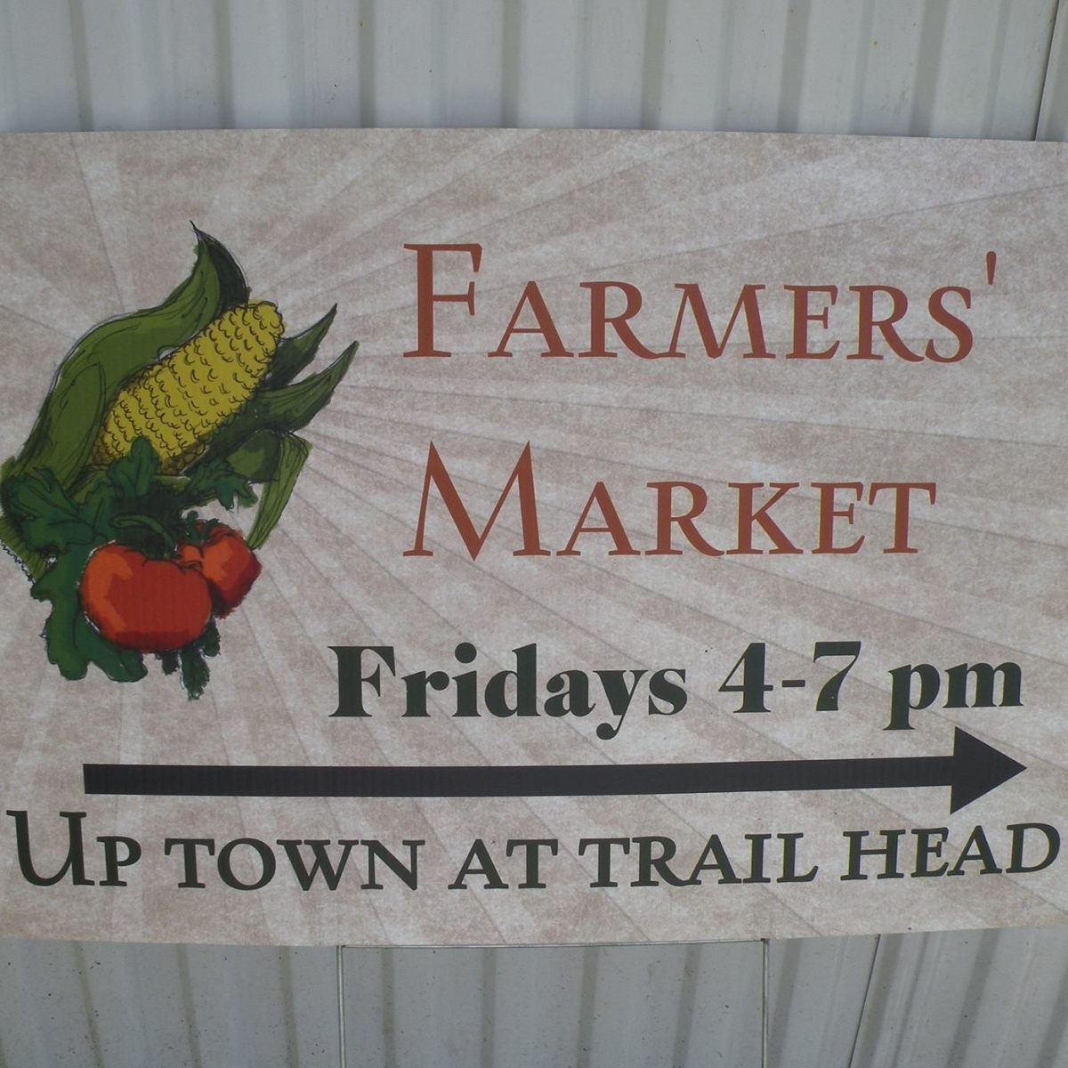 dalla center iowa farmers market sign